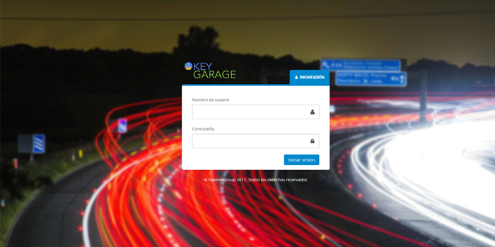 Portal de usuarios KeyGarage